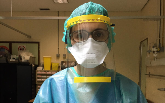 P.PORTO produces protective visors for hospitals