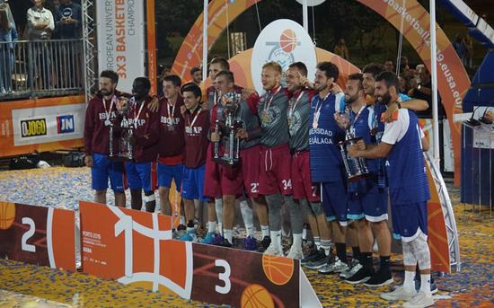 P.PORTO's trio wins European Basket 3x3 runner-up