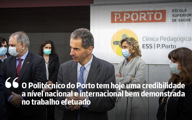 Manuel Heitor e Ana Abrunhosa visitam PORTIC e Clínica Pedagógica