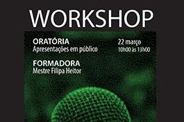 Workshop: Oratória, apresentações em público